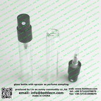 plastic packaging, 2ml/5ml spray fragrance bottle