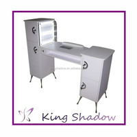 2015 luxury nail table cheap double nail table manicure tables nail salon supplies with light