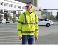 Safty Protective Work Clothes Reflective Clothing, Reflective Water Proof Work Jacket For Construction