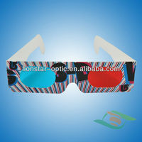 New arrival ! red blue 3d glasses paper 3d movie glasses