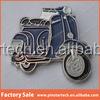 Blue Lambretta and Vespa scooters and Mod Motorbike Enamel Metal Lapel Pins/Badge