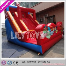 Red color New design Red color inflatable slides, giant inflatable slide for sale