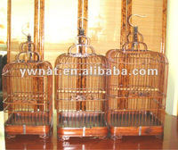 Chinese antique bamboo outdoor hanging bird cage