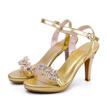 Star models Temperament O.L Series Leather flowers rhinestones sandals-LL0006