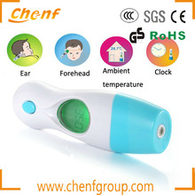 Cheaper Newest digital infrared ear thermometer 4 in 1 Temperature Ear/Forehead/Room temperature/Clock