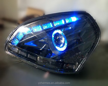 Best Design New Brand LED Headlight for Car with Angel Eyes