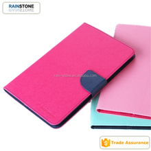 Book style diary style good quality leather for iPad mini 4 flip case