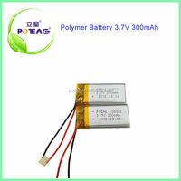 High end 300mah 502035 3.7v rechargeable lipo battery pack