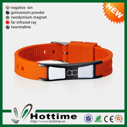 4 in 1 Bio Elements Energy Cheap Custom Silicone Bracelet For Man