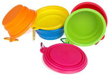 Portable Travel Pet Water Bowl (12 Oz) with Free Bonus Carabiner Belt Clip
