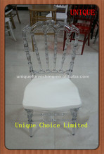 Transparent Resin King Throne Chair For Sale