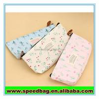 Korean fashion pen bags wholesale stationery canvas zipper bag