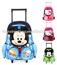 mayor lindo de dibujos animados mochila escolar niños mochilas de ruedas