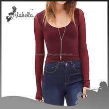 New fashion girls tops and jeans photos Sexy long sleeve tops