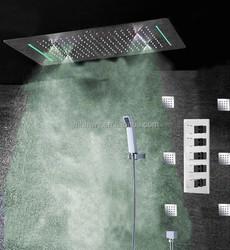 electric led light rain shower set 360*500mm mist fall shower sets massage showerhead multiple function showers