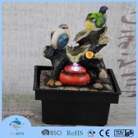 Handmade bird design indoor mini tabletop decorative water fountains