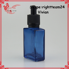 rectangle glass dropper bottles 30 ml for e liquid with childproof cap factory sale SGS