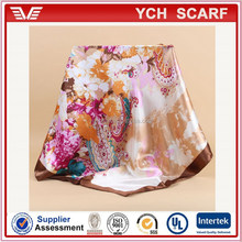 Turkish style printed muslim polyester woman scarf