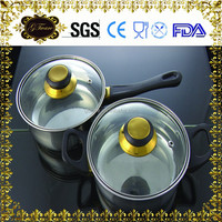 Practical Metal Cooking Tools Stainless Steel Hot Pot Soup Pot Milk Boiling Pots With Low Prices