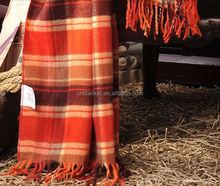 SZ-F01Recycled Acrylic blanket with fringe,Acrylic throw