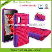 mesh combo case for lg optimus l5ii e455 mobile phone