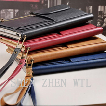 commerce grade business stand wallet leather case for ipad mini