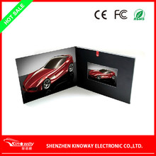Newest tft screen 7 inch video greeting card,Lcd video greeting card /video business brochure with CE/FCC/ROHS/ISO9000/BSCI