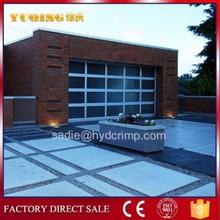 YQG-02 Aluminum glass panel garage door , german garage door opener