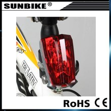 2015 hot sale factory high power laser tail rechargeable bike lights