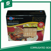PAPER PACKAGING BOX WITH WINDOW FOR FULLY COOKED LAMB SHANKS
