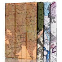 World map leather cover case for Amazon Kindle Fire HD 8.9