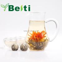 2015 new Artistic blooming flower tea made of organic green tea and flower EU standard
