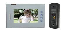 7 inch video door phone intercom system 4 wires electric door lock open