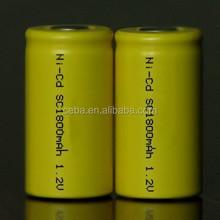 ni-cd sc1800mah 1.2v rechargeable battery