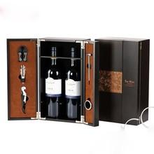 Custom Made Wooden Wine Bottle Box/Single Bottle Wine Packaging Box Case For Sale