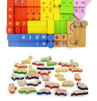 Kids Toy Wooden Animal and Number Blocks for kindergarten