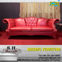 Chesterfield Sofa Home Use Genuine Leather Antique Furniture Sofa A987
