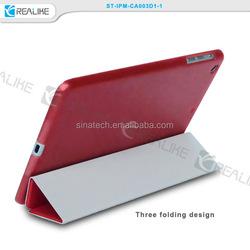 Stand Smart Cover Auto Sleep Folio Leather Case for iPad mini 3 ,smart leather cover case for ipad mini 3