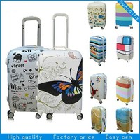 high quality luggage bag ladies clear luggage cover