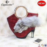 costume design real fur italian matching shoes and bags ladies