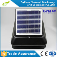 factory supply energy-saving and high efficiency 14inch 30w dc motor solar exhaust fan