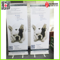 Adjustable Roll Up Banner Stand / two legs roll up banner stand