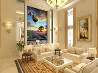 wholesale Eco-friendy 3d huge mural hot ballon flying throuhgt garden papel de parede for bedroom &sofa tv wallpaper murals