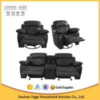 Living room furniture leather motion sofa set recliner sectional sofa in china