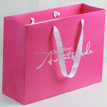 Meijei custom hot pink paper shopping bag