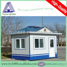 prefabricated sandwich panel light steel sturcture modular booth booth guards
