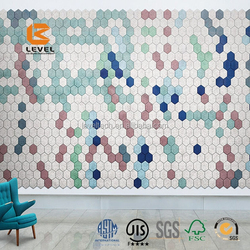 Hexagon Shaped Wood Wool Cement Board Acoustic Panels European Quality