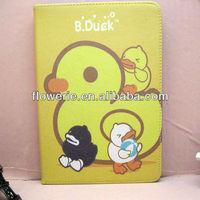 FL2835 2013 Guangzhou hot selling b duck flip leather case for ipad mini