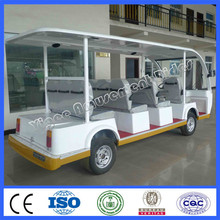 New amusement park electric sightseeing car 11 seats battery tourist car