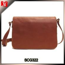 China handbag factory hot mens leather laptop bags flap over laptop bags